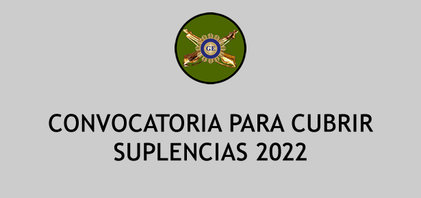 Convocatoria para cubrir suplencias 2019-2020