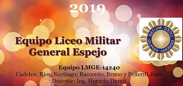 Equipo LMGE 1ra Ronda Maratón Nacional de Robótica 2019